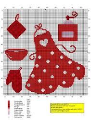 point de croix cuisine 0 point de croix grille et couleurs de fils fourchette cuillere et