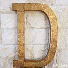 Metal Letters Home Decor by Letter Decor Tutorial Make A Diy Embossed Monogram