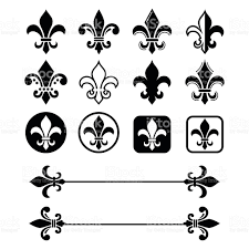 fleur de lis french symbol design scouting organizations french