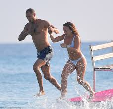 chloe green arrives in barbados with jeremy meeks daily mail online