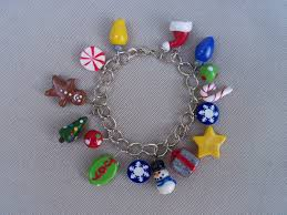 christmas charm bracelet polymer clay handmade charms polymer