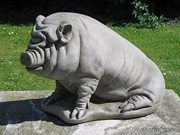 dragonstone pot bellied pig garden statue co uk garden