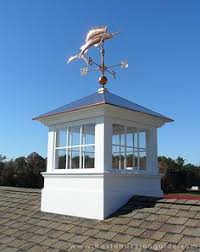 Copper Roof Cupola Olympia 24 In X 24 In X 38 In Composite Vinyl Cupola With