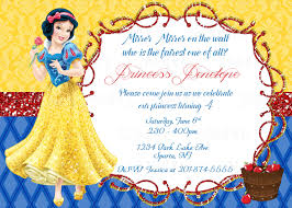 Invitation Card Of Birthday Party Snow White Printable Birthday Party Invitation Plus Free Blank
