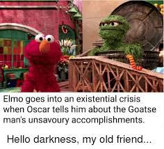 Goatse Meme - elmo goes into an existential crisis when oscar tells him about