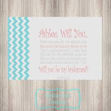 will you be my bridesmaid poems of honor will you be my bridesmaid lovely chevron