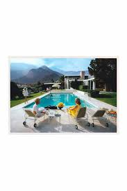 hautelook home decor slim aarons poolside gossip framed print by statements by j on
