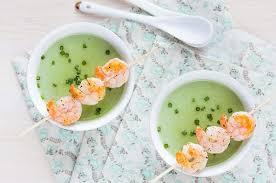 cuisiner des petit pois surgel recette crème de petits pois aux langoustines