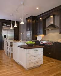 Signature Kitchen Cabinets Signature Custom Cabinetry White Paint On Island With Chocolate