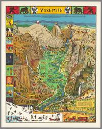 Vintage Map Behold A Glorious Vintage Map Of Yosemite National Park Atlas