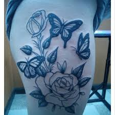 with butterfly tattoos on thigh tattooshunt com