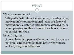 cover letter definition how to format a cover letter