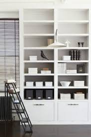 Storage Bookcase With Doors White Bookshelf With Doors Foter