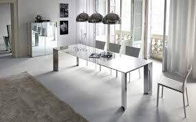 modern high kitchen table white brick tile backsplash white