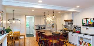 Great Room Kitchen Designs Cqc Home Closed Kitchen Is Opened Into Great Room