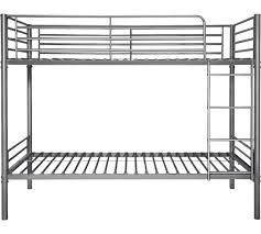 buy home samuel shorty bunk bed frame silver at argos co uk
