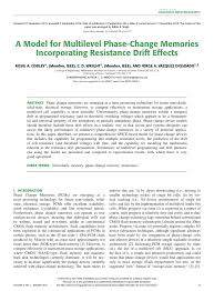 a model for multilevel phase change memories incorporating