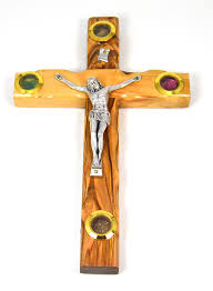 wood crucifix holy land carved bethlehem olive wood cross crucifix with the