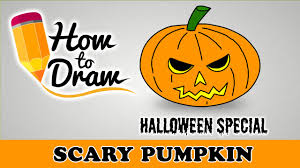 how to draw a scary halloween pumpkin face halloween special