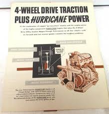 jeep hurricane engine 4 wheel drive willys station wagon brochure hurricane engine jeep