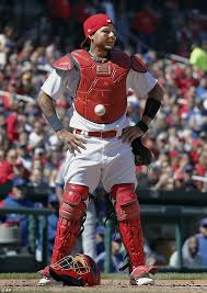 baseball sticks to cardinals player u0027s chest protector daily mail