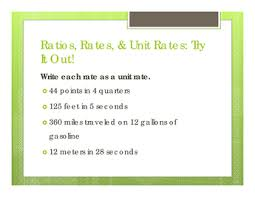 sixth grade lesson ratios rates and unit rates betterlesson