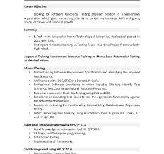 Software Testing Resume Manual Testing Sample Resume Aoc Test Engineer Sample Resume 9