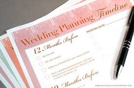 wedding planning help free printable wedding planning timeline botanical