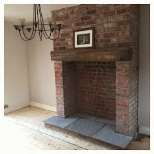 creative brick fireplace with stove home decoration ideas