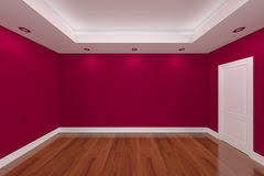 color for home interior home interior rendering with empty room color wall stock