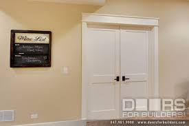 custom interior double door 2 flat panel white painted custom