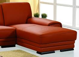 Orange Leather Chair Leather Upholstery Stylish Sectional Sofa