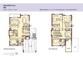 villa lantana floorplans jumeirah village circle jvc dubai