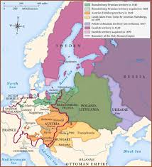 Map Of Central Europe by Map Of Central Northern And Eastern Europe In Second Half Of 17th
