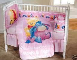 Winnie The Pooh Nursery Bedding Sets Winnie The Pooh 5 Pink Crib Set Crib Bedding
