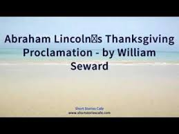 abraham lincoln s thanksgiving proclamation by william seward 240p