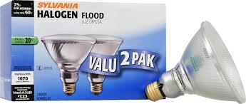 flood light bulbs sylvania sylvania 16739 halogen narrow flood l par38 medium base 120v