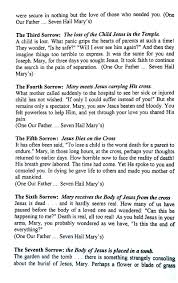 seven sorrows rosary 7 sorrows of rosary devotion