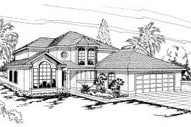 Spanish Style Floor Plans by Spanish Style House Plan Villa Real 11 067 Front Plans Associated