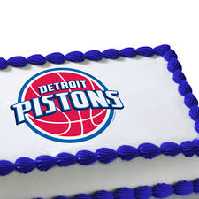 edible cake decorations nba detroit pistons edible image cake decoration