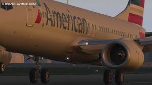 x plane 11 test landing with an american airlines boeing 737