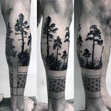 50 geometric leg tattoos for masculine design ideas