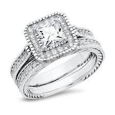 princess cut cubic zirconia wedding sets sterling silver cubic zirconia wedding ring sets mindyourbiz us