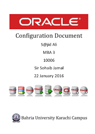 oracle 11i configuration document