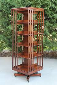 Woodworking Plans Rotating Bookshelf by Rare Size Antique Danners Revolving Rotating Lawyers Walnut