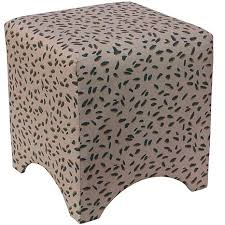 Ottoman Cube Cube Shaped Ottoman With Neo Leo Teal Design 8385108 Hsn