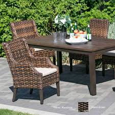 Wicker Dining Patio Furniture Wicker Land Patio Whidbey Island All Weather Resin Wicker Dining