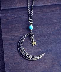 mystical moon necklace crescent moon and necklace fauna