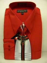 red pastel color shirt mens dress shirt tie combo