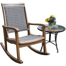 Jcpenney Outdoor Furniture by Outdoor Interiors Resin Wicker And Eucalyptus Rocking Chair Jcpenney